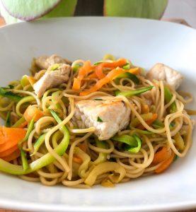Petit wok de nouille complet