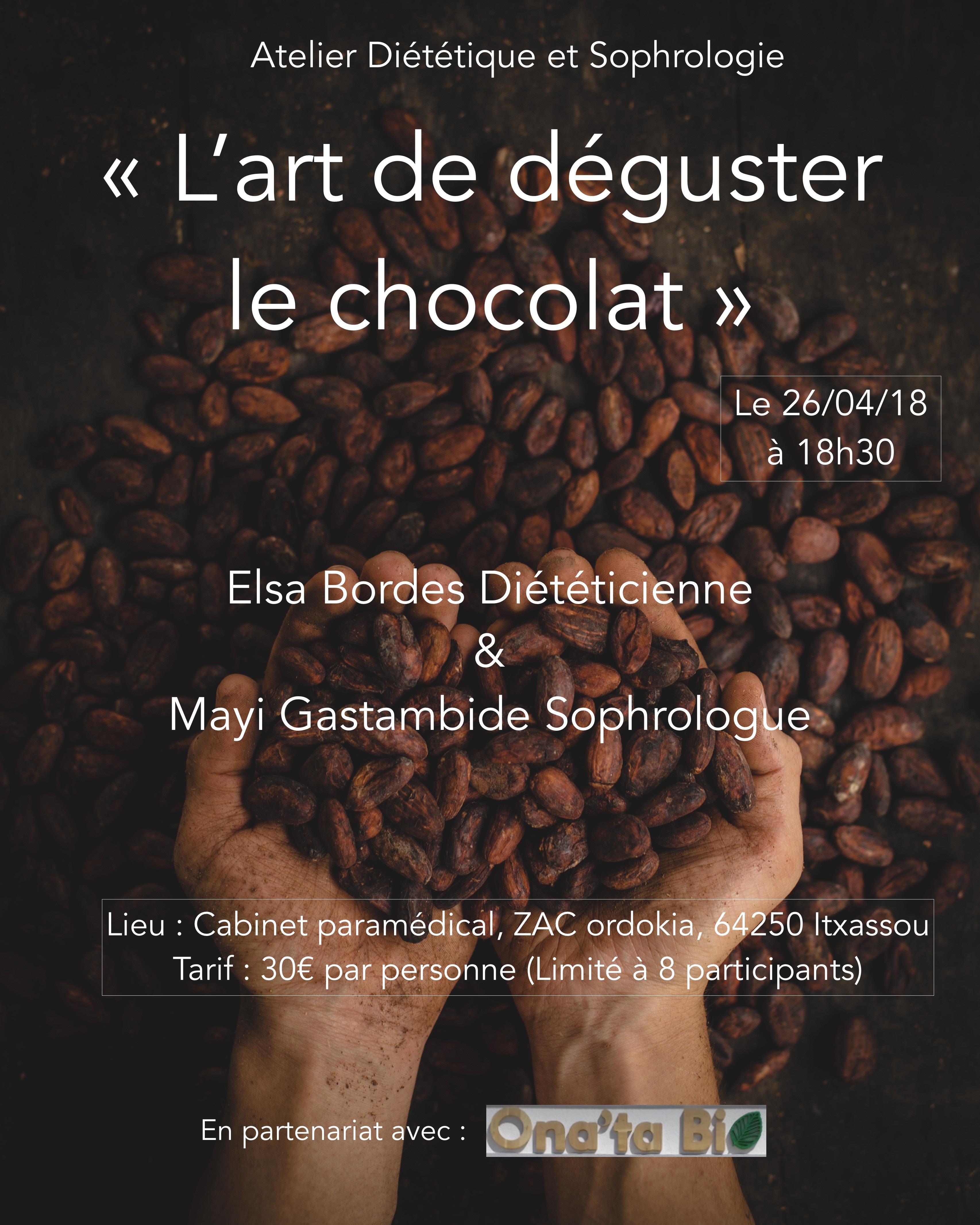 Atelier diététique et sphrologie : l'art de déguster le chocolat