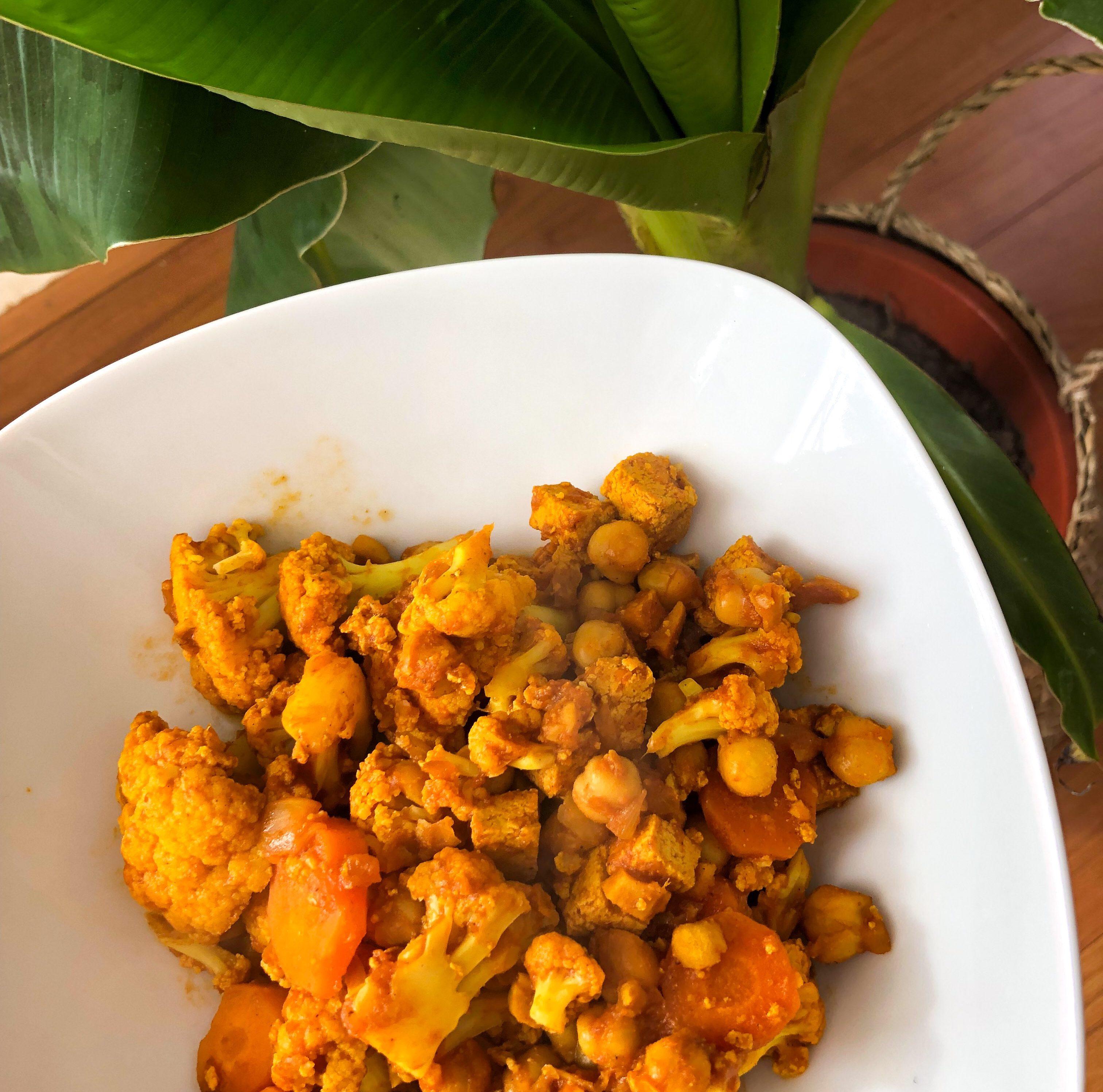 Curry de chou-fleur aux pois-chiches