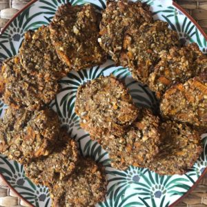 Cookie Avoine, Banane, Carotte et graines de chia (vegan)